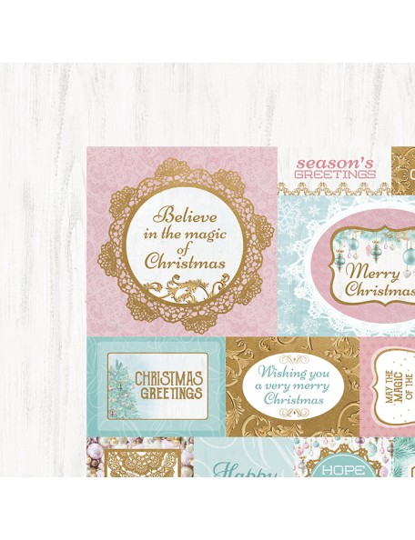"Kaisercraft Christmas Wishes Cardstock de doble cara 12""X12"", Seasons Greetings"