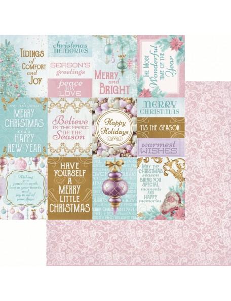 "Kaisercraft Christmas Wishes Cardstock de doble cara 12""X12"", Christmas Card"