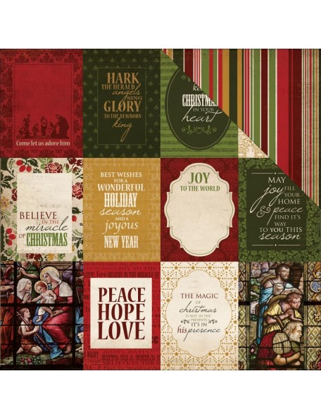 "Kaisercraft Holy Night Cardstock de doble cara 12""X12"", Faith"