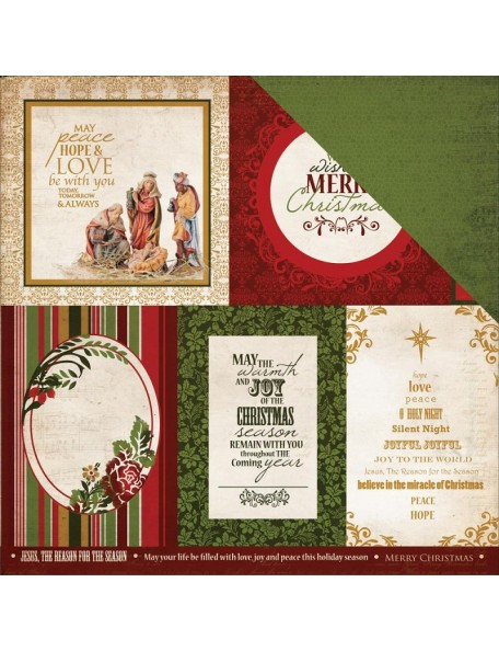 "Kaisercraft Holy Night Cardstock de doble cara 12""X12"", Blessing"