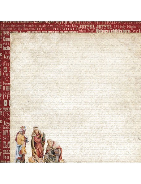 "Kaisercraft Holy Night Cardstock de doble cara 12""X12"", Wise Men"