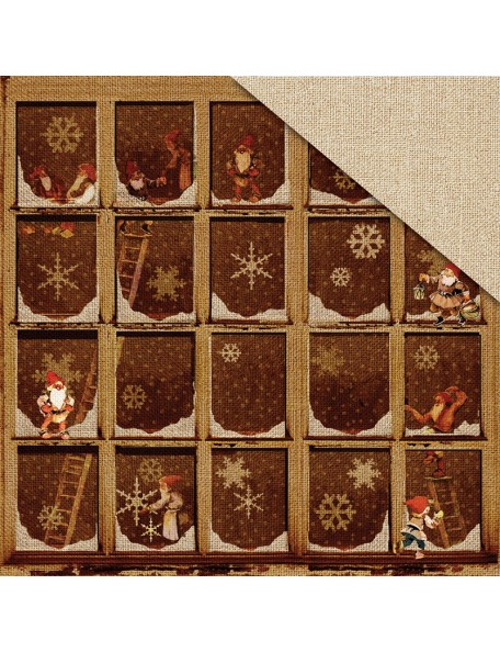 "Fabscraps Christmas Memories Cardstock de doble cara 12""X12"", Working Elves"