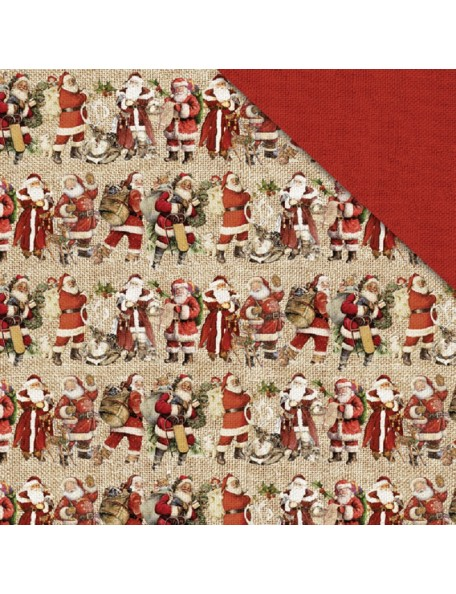 "Fabscraps Christmas Memories Cardstock de doble cara 12""X12"", Father Christmas"