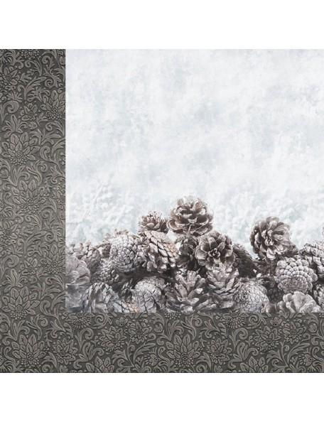 """Kaisercraft Frosted Cardstock de doble cara 12""""X12"""", Glacial"""