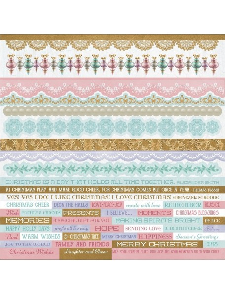 """Kaisercraft Christmas Wishes Cardstock Stickers 12""""X12"""""""