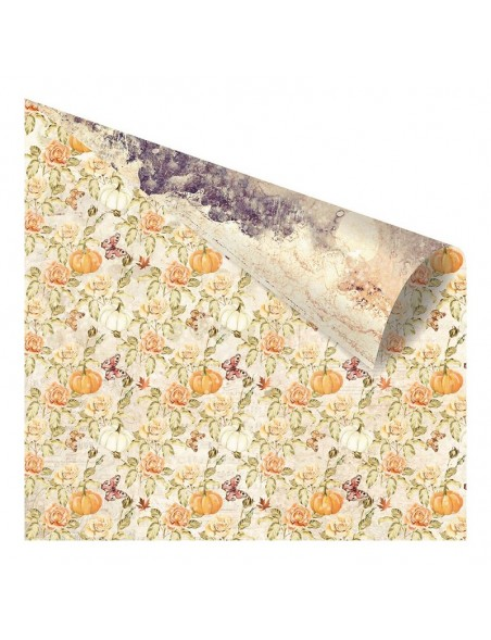 """Prima Marketing Amber Moon Foiled Cardstock de doble cara 12""""X12"""", Into The Woods"""