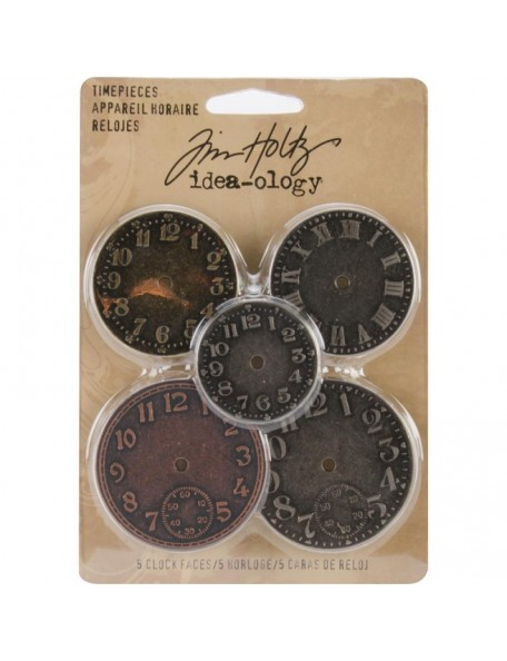 "Ranger Idea-Ology Timepieces Clock Faces 1.25"" To 1.75"" 5 Antique Nickel, Brass & Copper"