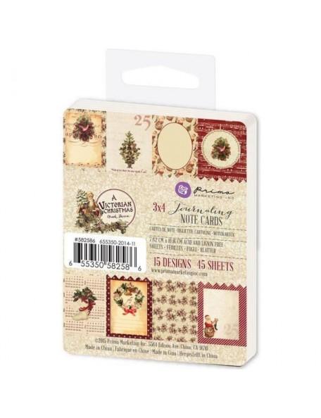 "Prima Marketing A Victorian Christmas Journaling Notecards 3""X4"", 15 Hojas/3"