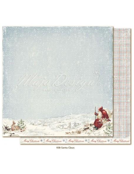 """Maja Design Joyous Winterdays cardstock de doble cara 12""""X12"""" , Santa Claus"""