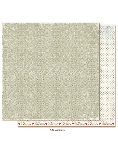 "Maja Design Joyous Winterdays cardstock de doble cara 12""X12"" , Evergreen"