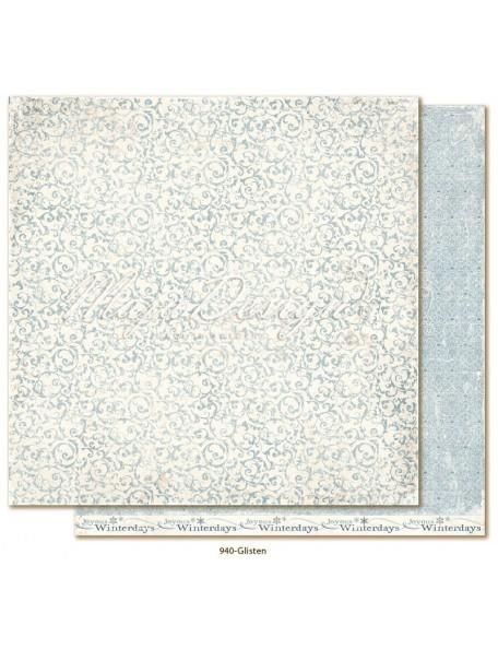 "Maja Design Joyous Winterdays cardstock de doble cara 12""X12"" , Glisten"