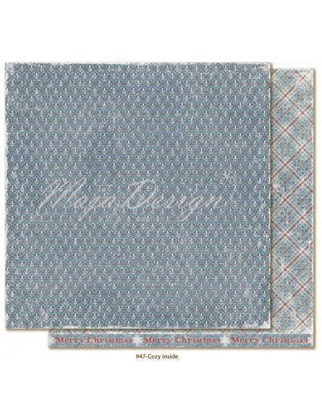 "Maja Design Joyous Winterdays cardstock de doble cara 12""X12"" , Cozy inside"