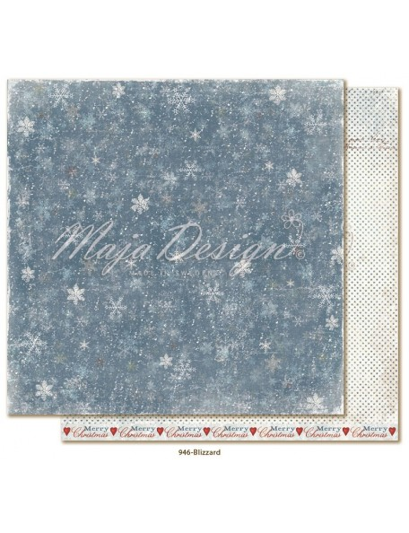 "Maja Design Joyous Winterdays cardstock de doble cara 12""X12"" , Blizzard"
