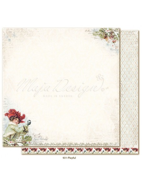 "Maja Design Joyous Winterdays Cardstock de doble cara 12""X12"" , Playful"