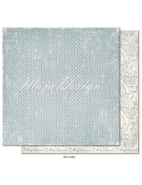 "Maja Design Joyous Winterdays cardstock de doble cara 12""X12"" , Chilly"
