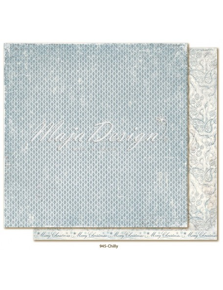 "Maja Design Joyous Winterdays cardstock de doble cara 12""X12"" , Chilly"