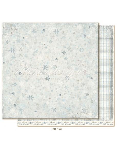 "Maja Design Joyous Winterdays cardstock de doble cara 12""X12"" , Frost"