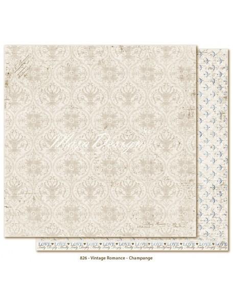 """Maja Design Vintage Romance Cardstock de doble cara 12""""x12"""", Champagne"""