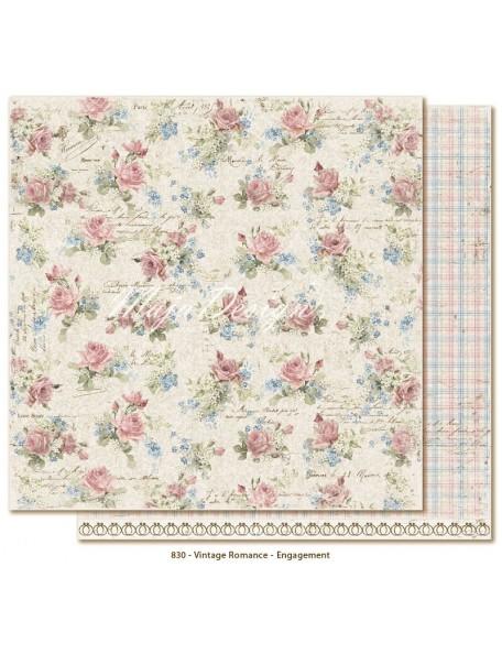 """Maja Design Vintage Romance Cardstock de doble cara 12""""x12"""", Engagement"""