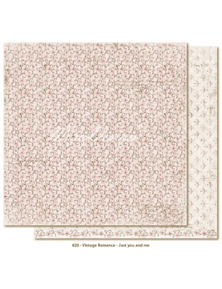 "Maja Design Vintage Romance Cardstock de doble cara 12""x12"", Just you and me"
