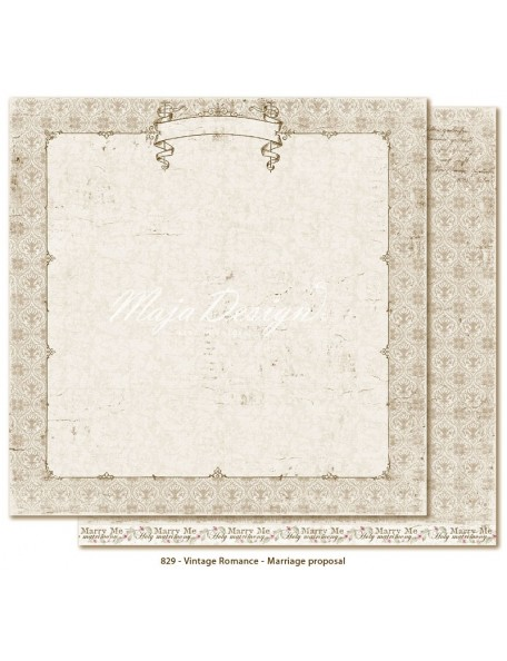 "Maja Design Vintage Romance Cardstock de doble cara 12""x12"", Marriage proposal"