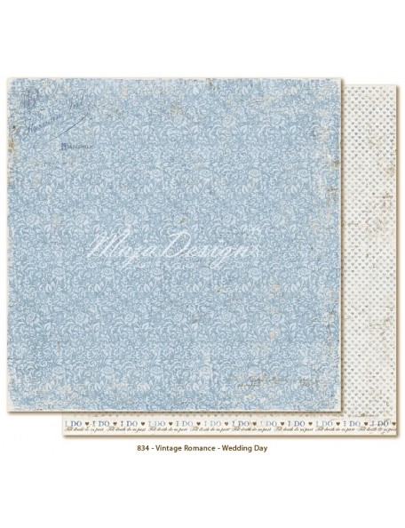 "Maja Design Vintage Romance Cardstock de doble cara 12""x12"", Wedding day"