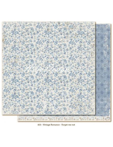 "Maja Design Vintage Romance Cardstock de doble cara 12""x12"", Forget me not"