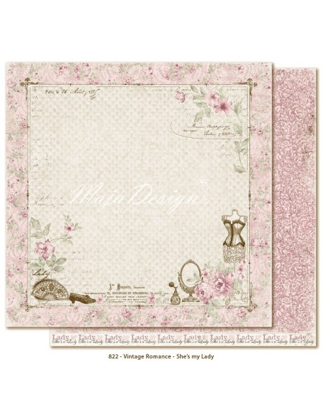 "Maja Design Vintage Romance Cardstock de doble cara 12""x12"", She's my Lady"