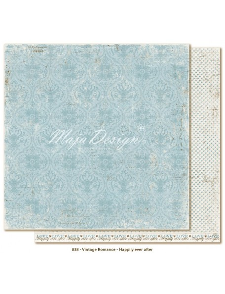 "Maja Design Vintage Romance Cardstock de doble cara 12""x12"", Happily ever after"