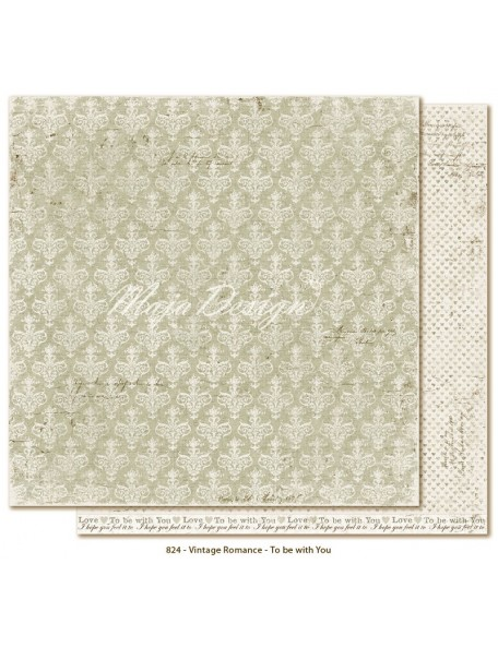"Maja Design Vintage Romance Cardstock de doble cara 12""x12"", To be with you"