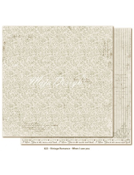 "Maja Design Vintage Romance Cardstock de doble cara 12""x12"", When I saw you"