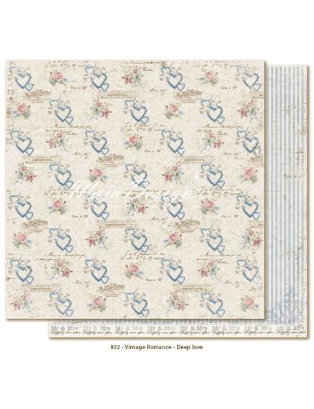 "Maja Design Vintage Romance Cardstock de doble cara 12""x12"", Deep Love"
