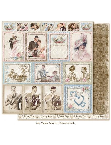 "Maja Design Vintage Romance Cardstock de doble cara 12""x12"", Ephemera cards DESCATALOGADO"