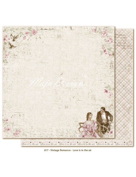"Maja Design Vintage Romance Cardstock de doble cara 12""x12"", Love is in the air"