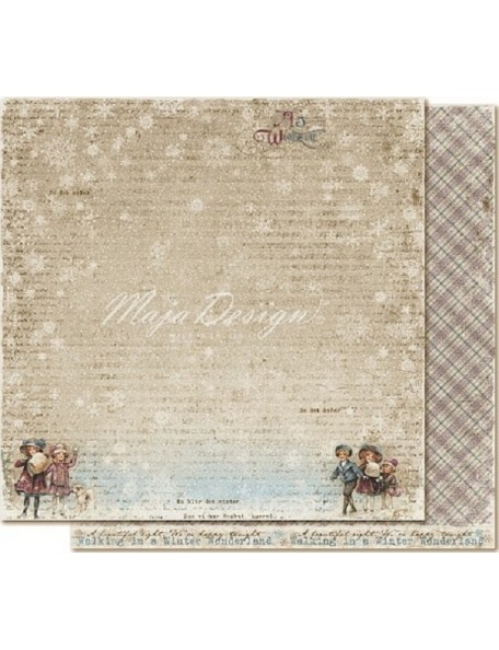 "Maja Design - Vintage Frost Basics Cardstock de doble cara 12""x12"", 1st of Dec"