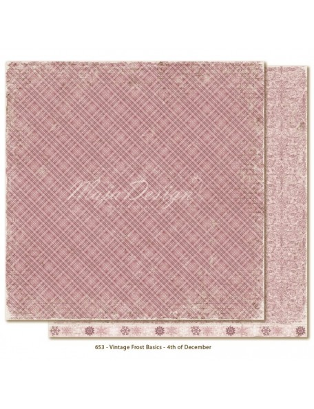 "Maja Design - Vintage Frost Basics Cardstock de doble cara 12""x12"", 4th of Dec"