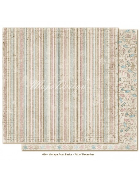 "Maja Design - Vintage Frost Basics Cardstock de doble cara 12""x12"", 7th of Dec"