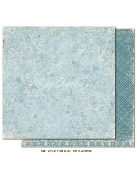 "Maja Design - Vintage Frost Basics Cardstock de doble cara 12""x12"", 9th of Dec"