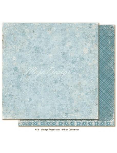 "Maja Design Vintage Frost Basics Cardstock de doble cara 12""x12"", 9th of Dec"