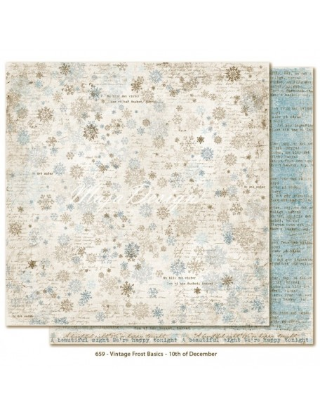 "Maja Design - Vintage Frost Basics Cardstock de doble cara 12""x12"", 10th of Dec"