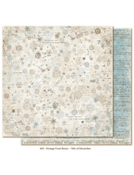 "Maja Design Vintage Frost Basics Cardstock de doble cara 12""x12"", 10th of Dec"