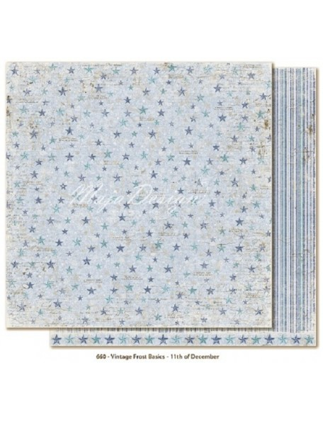 "Maja Design Vintage Frost Basics Cardstock de doble cara 12""x12"", 11th of Dec"