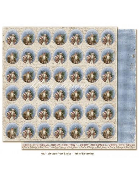 "Maja Design Vintage Frost Basics Cardstock de doble cara 12""x12"", 14th of Dec"