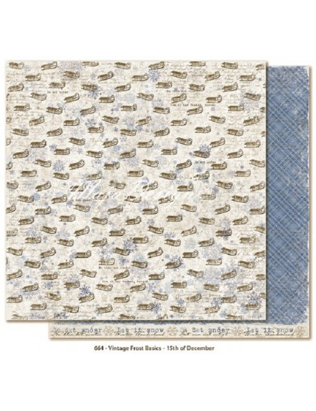 "Maja Design - Vintage Frost Basics Cardstock de doble cara 12""x12"", 15th of Dec"