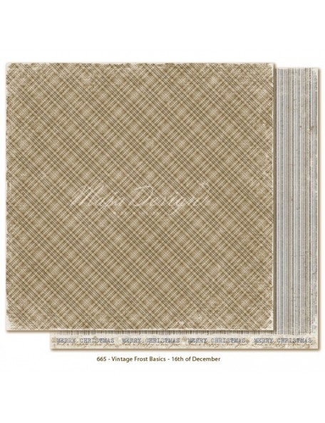 "Maja Design - Vintage Frost Basics Cardstock de doble cara 12""x12"", 16th of Dec"