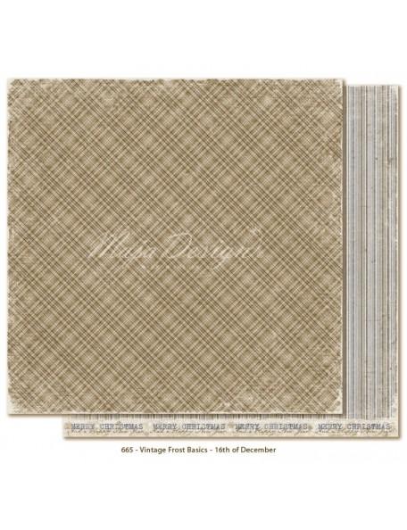 "Maja Design Vintage Frost Basics Cardstock de doble cara 12""x12"", 16th of Dec"