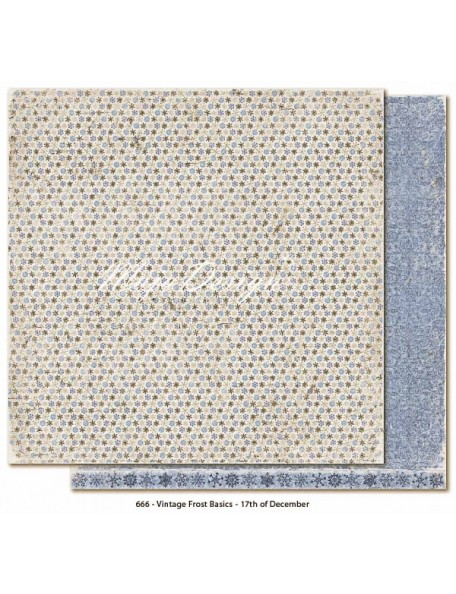 "Maja Design - Vintage Frost Basics Cardstock de doble cara 12""x12"", 17th of Dec"