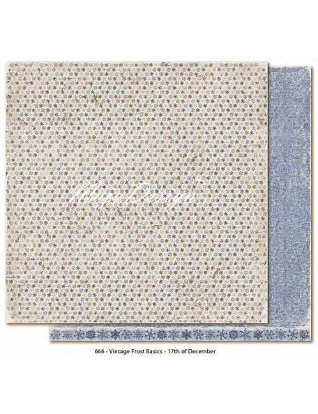 "Maja Design Vintage Frost Basics Cardstock de doble cara 12""x12"", 17th of Dec"