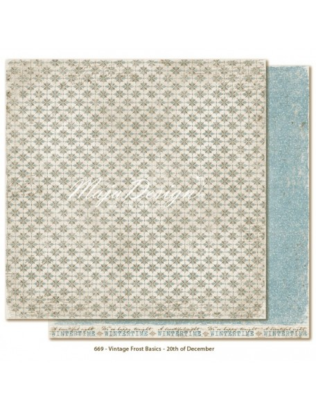 "Maja Design - Vintage Frost Basics Cardstock de doble cara 12""x12"", 20th of Dec"