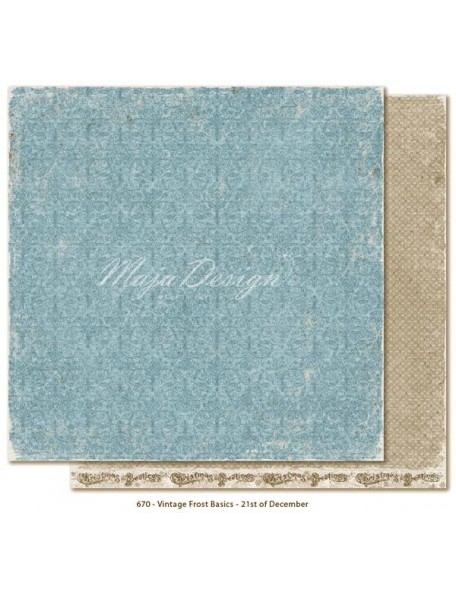 "Maja Design - Vintage Frost Basics Cardstock de doble cara 12""x12"", 21st of Dec"